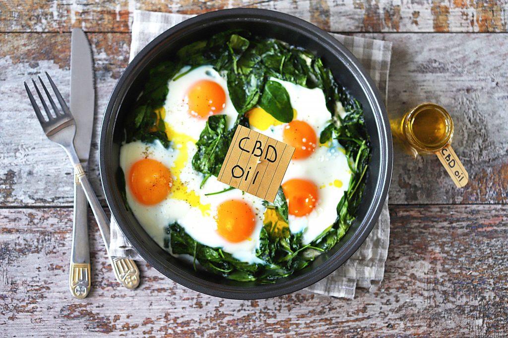 Comida cannábica huevos