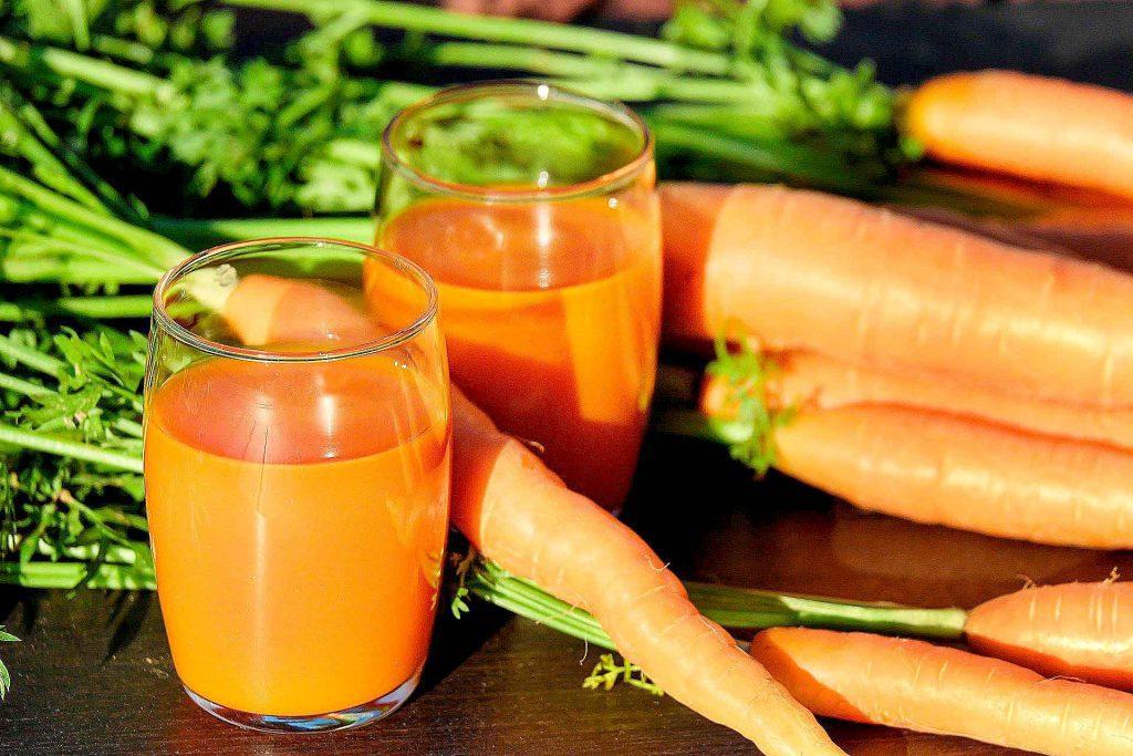 colores en la comida naranja
