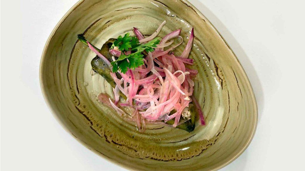 Receta de chiles rellenos de atún del chef Eduardo Palazuelos y Koblenz