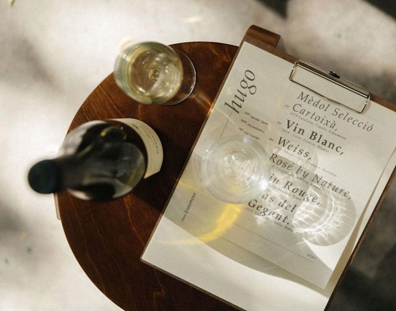 Detalle en el wine bar Hugo
