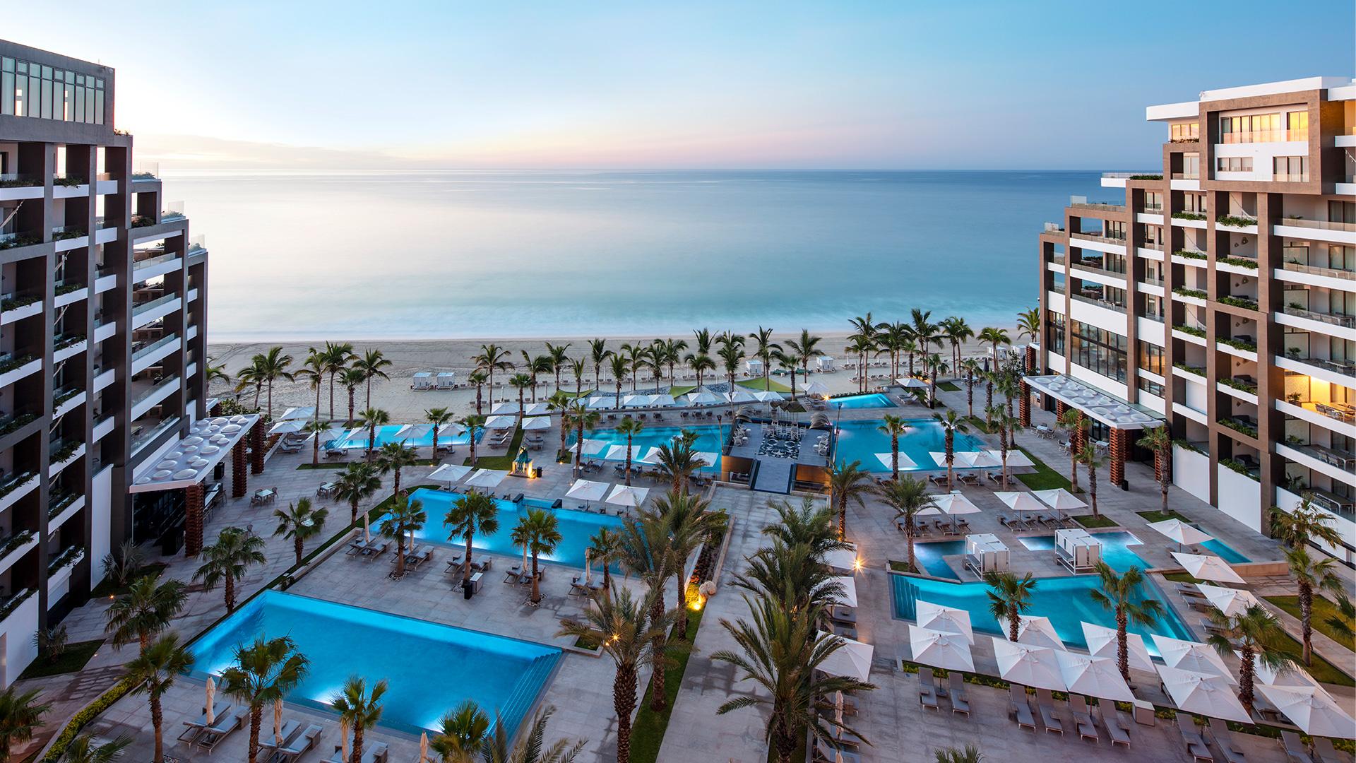 Panorámica del hotel Garza Blanca Los Cabos