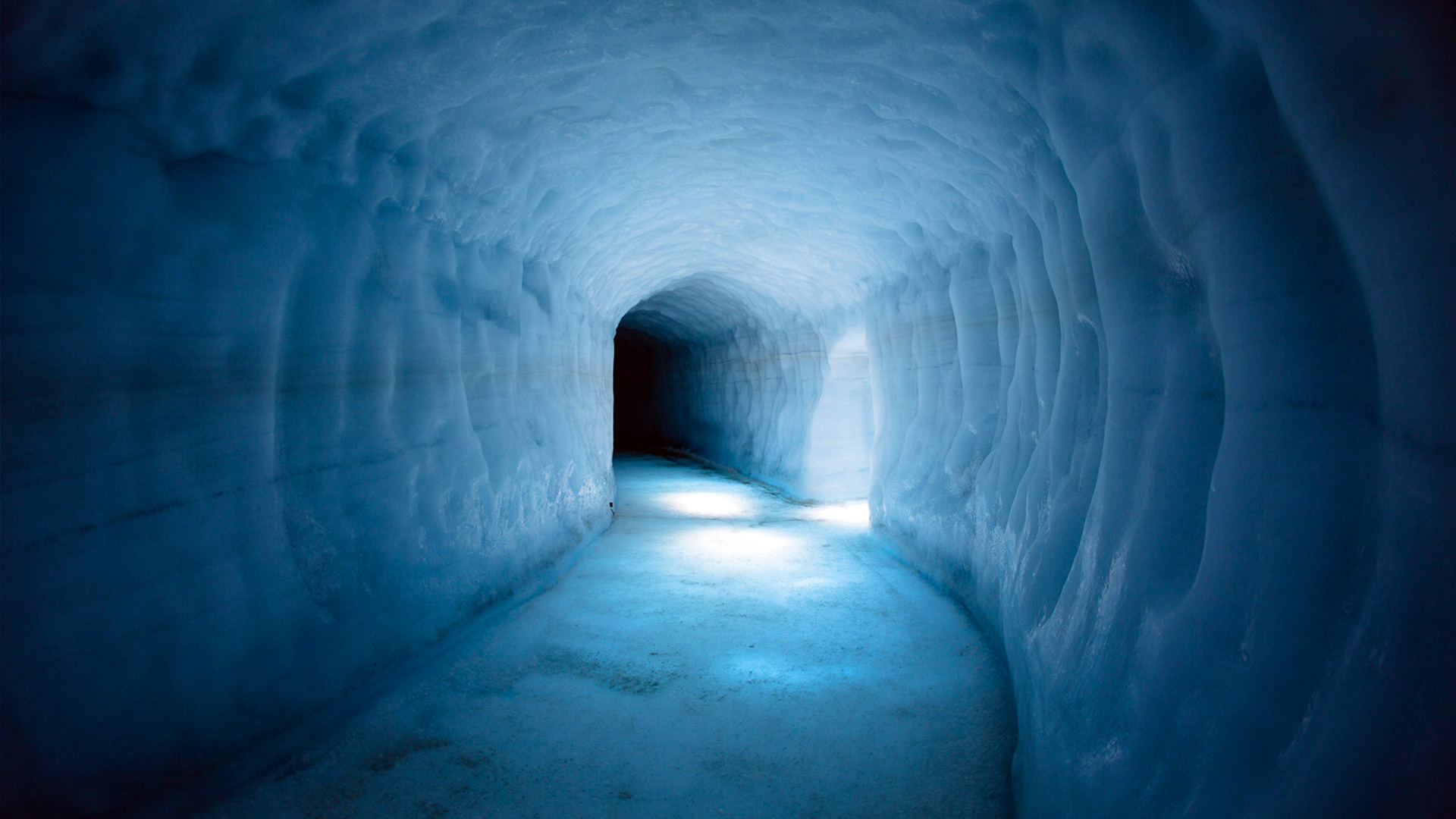 Dentro de un glaciar