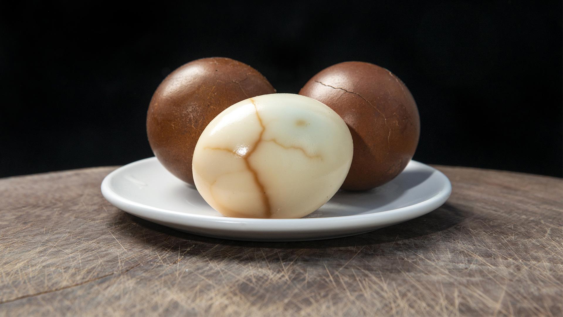 Huevos cocidos con té ¡Extravagancia asiática!